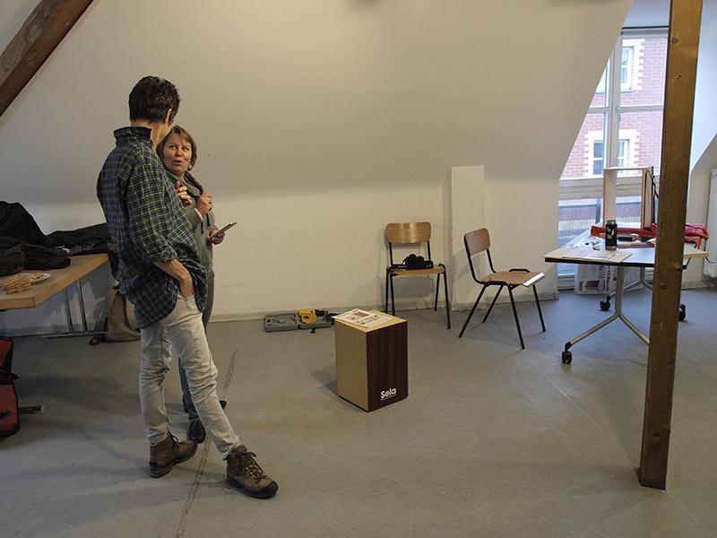 Cajon-Bau-Workshop | kleine Pause