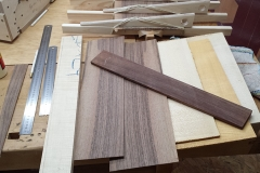 Cavaquinho bauen, Material-Sammlung