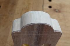 Cavaquinho bauen, Halskopf geformt