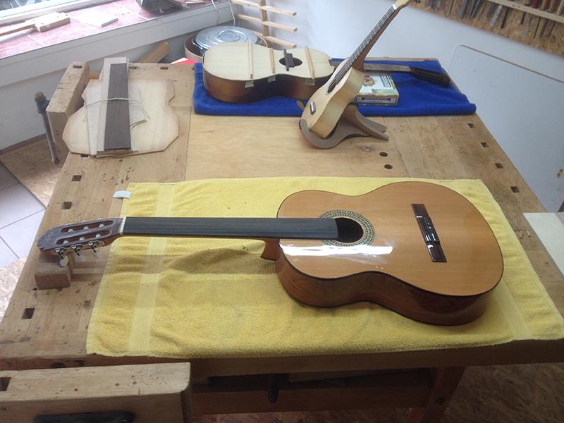 fretless guitar, fretless Guitar soweit fertig