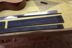 fretless guitar, Griffbrett grob ausgesägt