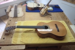 fretless guitar, fretless Guitar soweit fertig