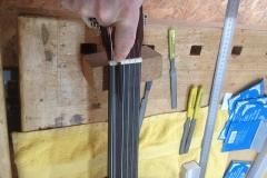 fretless guitar, Saitenlage einstellen, Sattelkerben mit Spezialfeilen bearbeiten