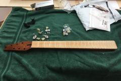 Hollow-Body-E-Gitarre, Griffbrett mit Zitronenöl geölt