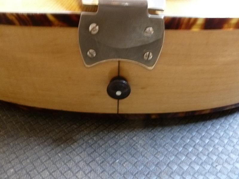 Jazzgitarre restaurieren, neuer Gurt-Knopf
