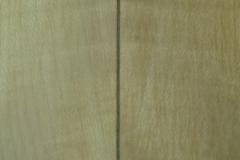Jazzgitarre restaurieren, Mittelnaht des Bodens, Detail