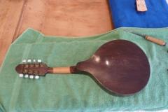 Mandoline restaurieren, Rückseite