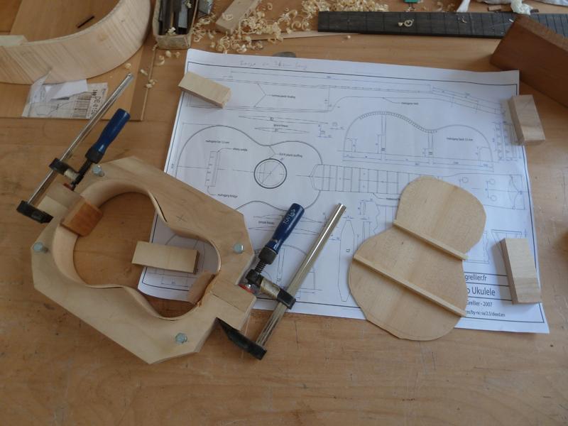 Ukulele bauen, Zargen, Boden und Bauform