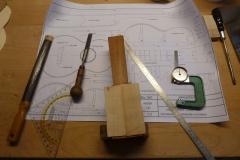 Ukulele bauen, Kopfplatte vorbereiten