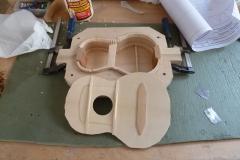 Ukulele bauen, Decke mit Balken und Verstärkungen