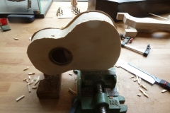 Ukulele bauen, Decke und Boden bündig arbeiten