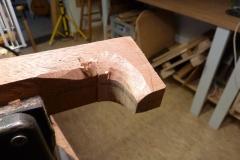 Ukulele bauen, Halsfuß schnitzen