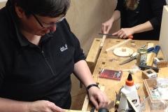 WS Cajon bauen, Kleinteile bearbeiten