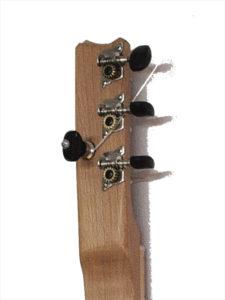 Cigarbox-Guitar 1, Kopf, Rückseite